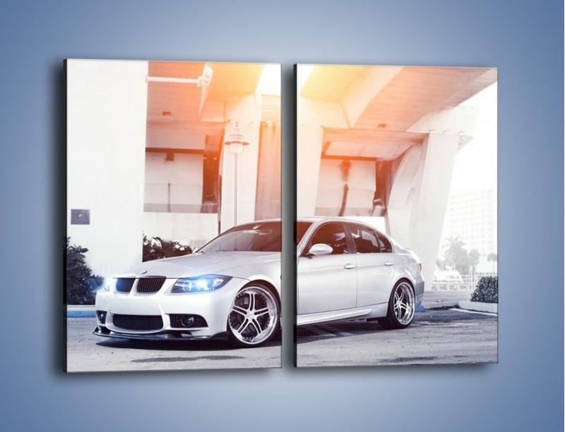 Obraz na płótnie – BMW 3 E90 – dwuczęściowy prostokątny pionowy TM112