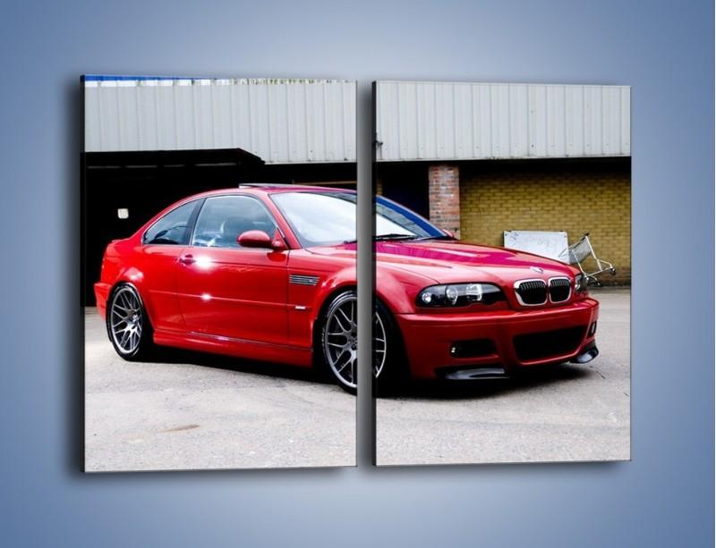 Obraz na płótnie – BMW M3 E46 Coupe – dwuczęściowy prostokątny pionowy TM125
