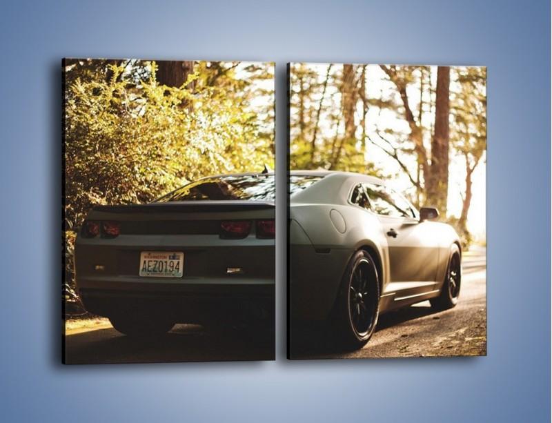 Obraz na płótnie – Chevrolet Camaro w matowym kolorze – dwuczęściowy prostokątny pionowy TM132