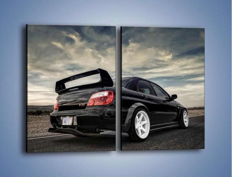 Obraz na płótnie – Czarne Subaru Impreza WRX Sti – dwuczęściowy prostokątny pionowy TM133