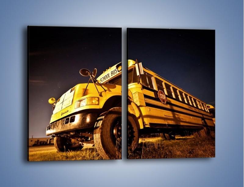 Obraz na płótnie – Amerykański School Bus – dwuczęściowy prostokątny pionowy TM146