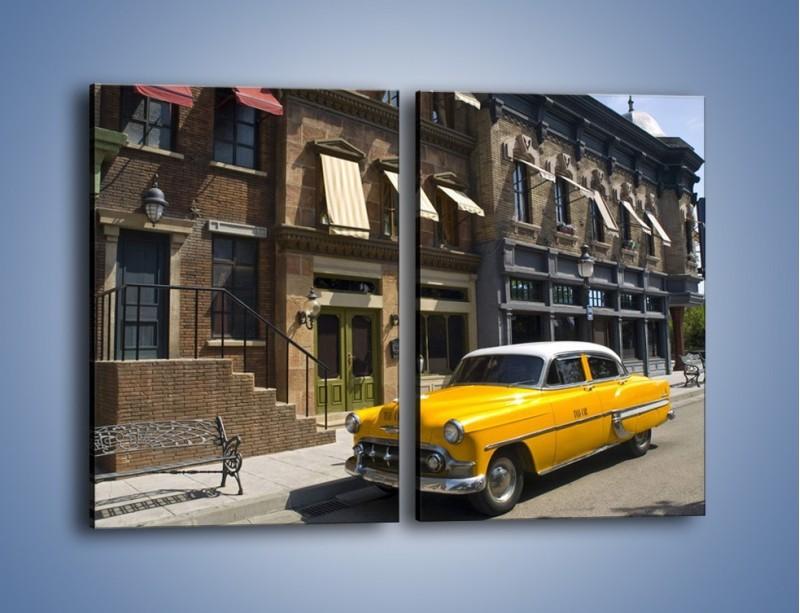 Obraz na płótnie – Amerykańska taksówka z lat 54 – dwuczęściowy prostokątny pionowy TM164