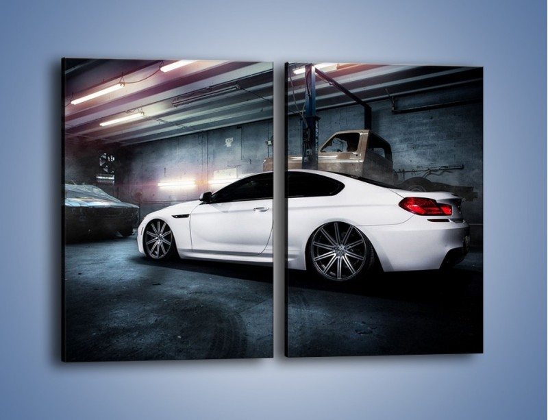 Obraz na płótnie – BMW M6 F13 w garażu – dwuczęściowy prostokątny pionowy TM165
