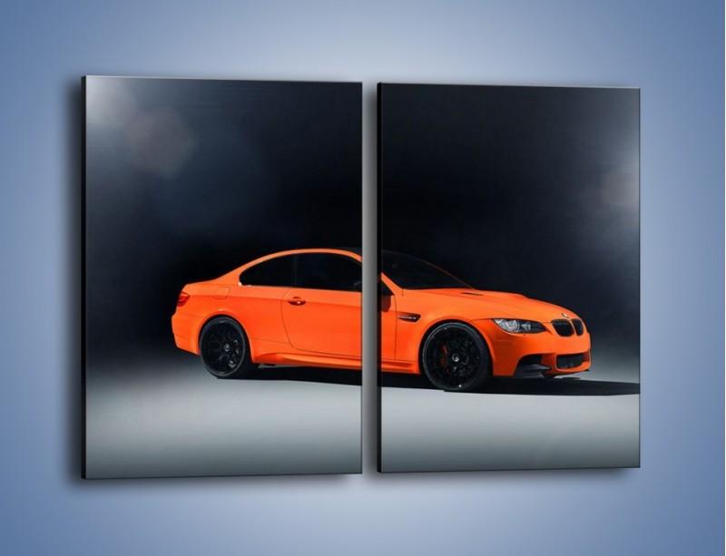 Obraz na płótnie – BMW M3 E92 Coupe Orange – dwuczęściowy prostokątny pionowy TM168