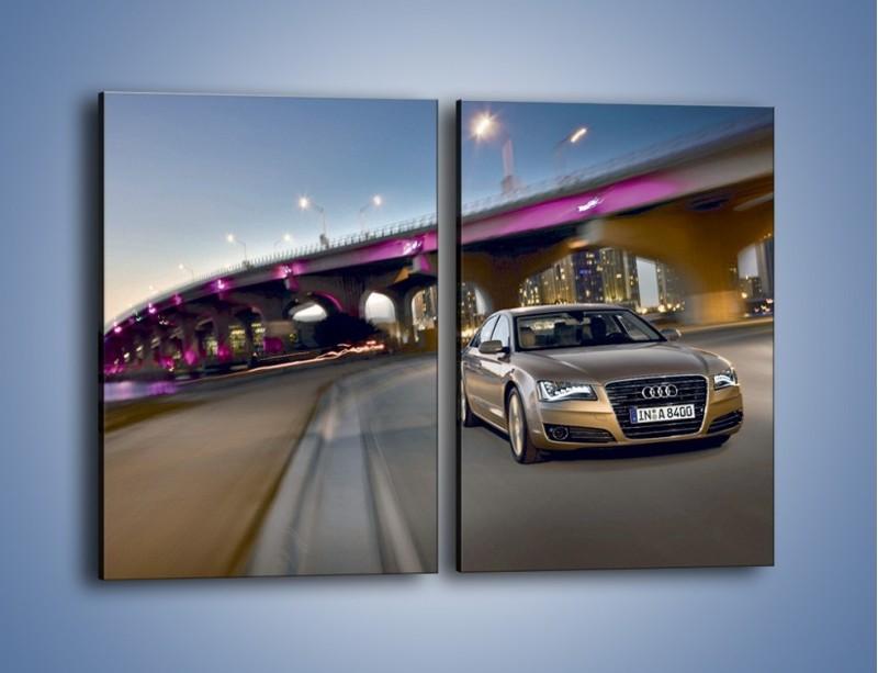 Obraz na płótnie – Audi A8 – dwuczęściowy prostokątny pionowy TM188