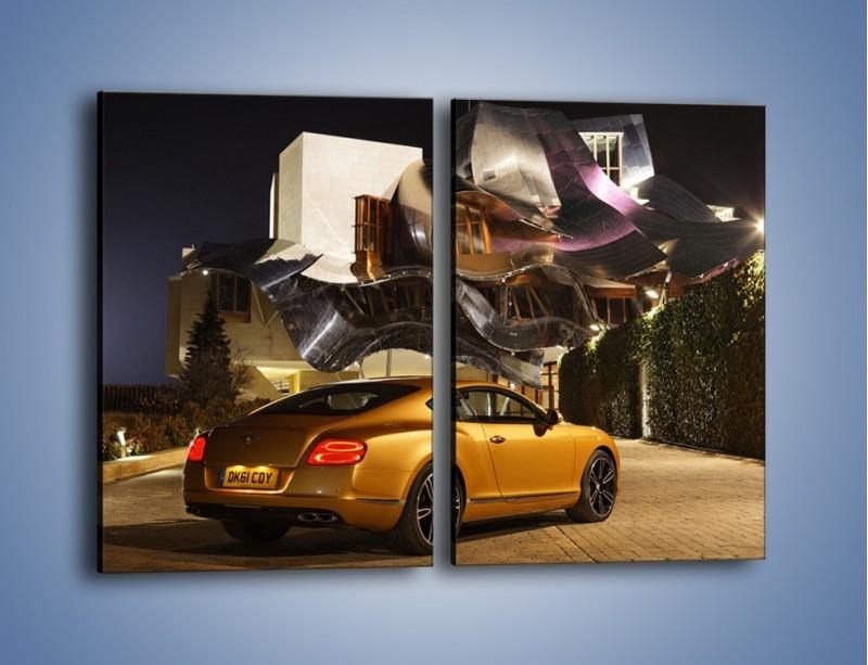 Obraz na płótnie – Bentley Continental GT V8 – dwuczęściowy prostokątny pionowy TM190