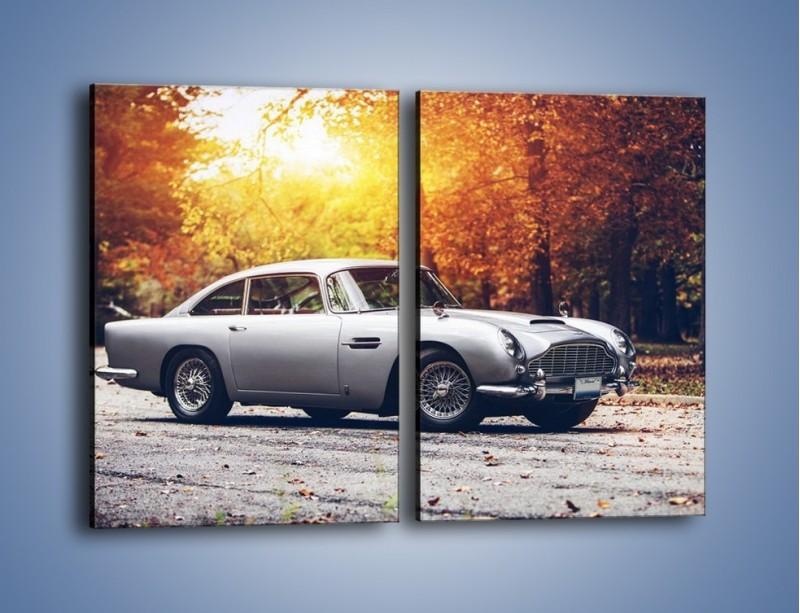 Obraz na płótnie – Aston Martin DB5 – dwuczęściowy prostokątny pionowy TM208