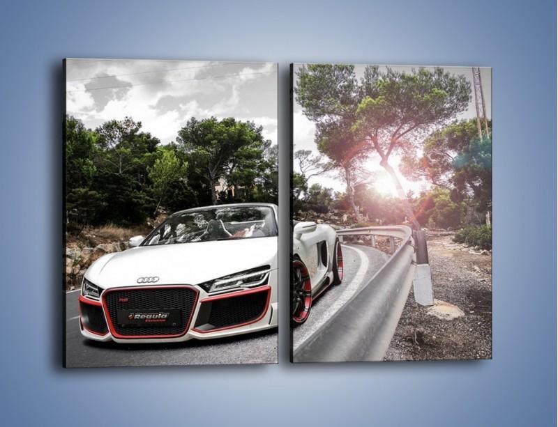 Obraz na płótnie – Audi R8 V10 Spyder – dwuczęściowy prostokątny pionowy TM209