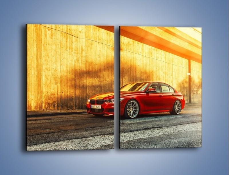 Obraz na płótnie – BMW 3 F33 – dwuczęściowy prostokątny pionowy TM235