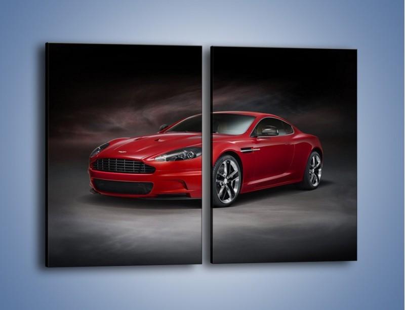 Obraz na płótnie – Aston Martin DBS Carbon Edition – dwuczęściowy prostokątny pionowy TM242