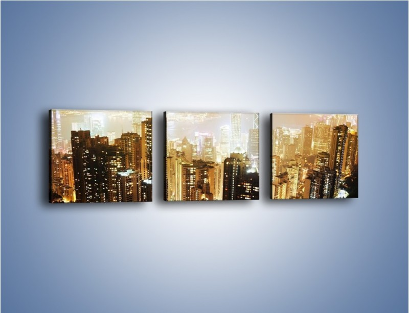 Obraz na płótnie – Miasto widziane z góry – trzyczęściowy AM007W1