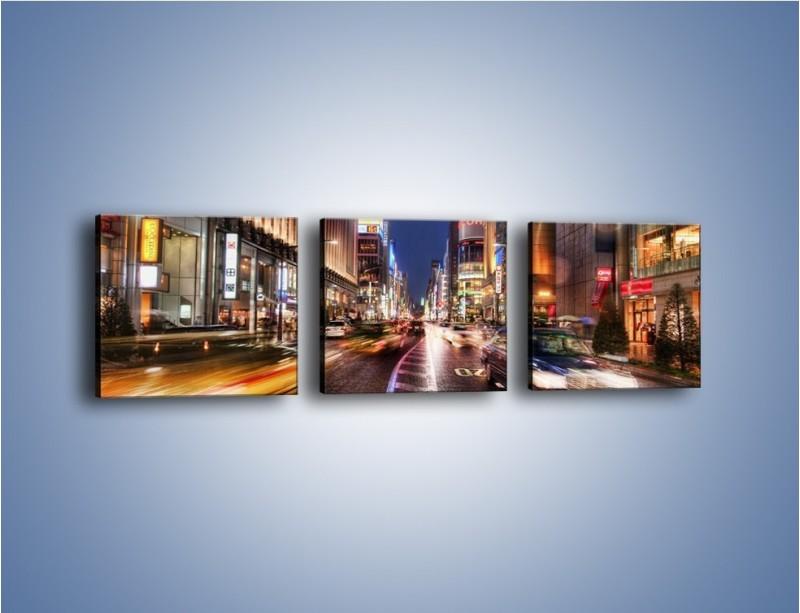 Obraz na płótnie – Tokyo w ruchu – trzyczęściowy AM015W1