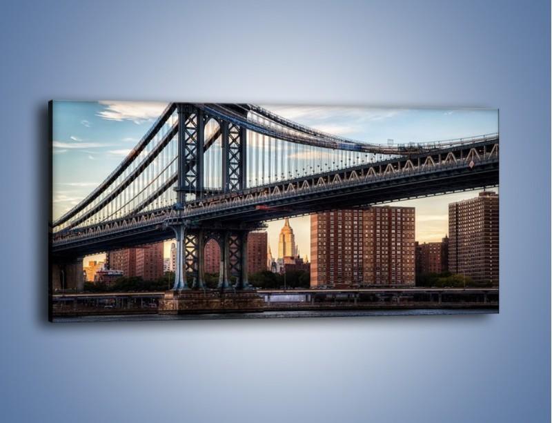 Obraz na płótnie – Manhattan Bridge – jednoczęściowy panoramiczny AM607