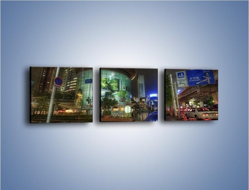 Obraz na płótnie – Spokojne Tokyo nocą – trzyczęściowy AM056W1
