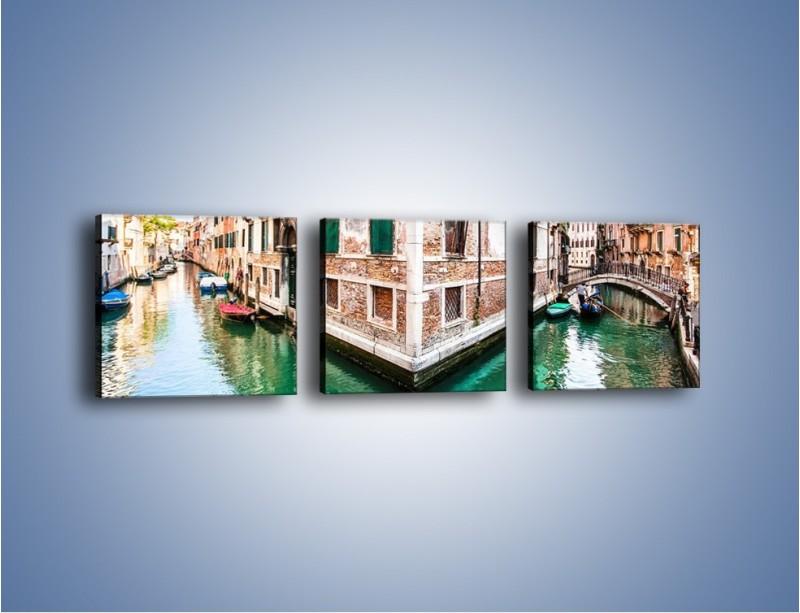 Obraz na płótnie – Skrzyżowanie wodne w Wenecji – trzyczęściowy AM081W1