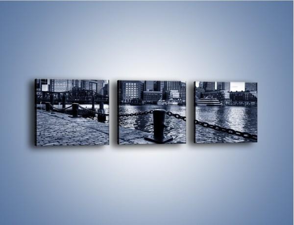 Obraz na płótnie – Wybrukowana wybrzeże miasta – trzyczęściowy AM132W1