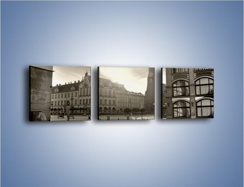 Obraz na płótnie – Rynek Starego Miasta – trzyczęściowy AM136W1