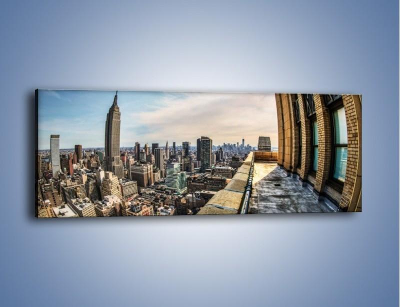 Obraz na płótnie – Empire State Building na Manhattanie – jednoczęściowy panoramiczny AM610