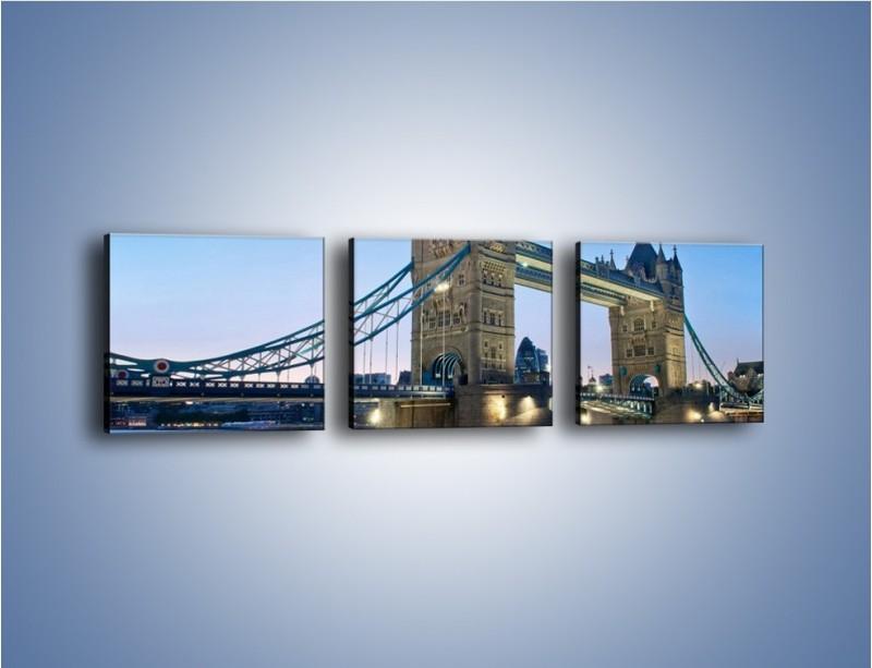 Obraz na płótnie – Tower Bridge o poranku – trzyczęściowy AM143W1
