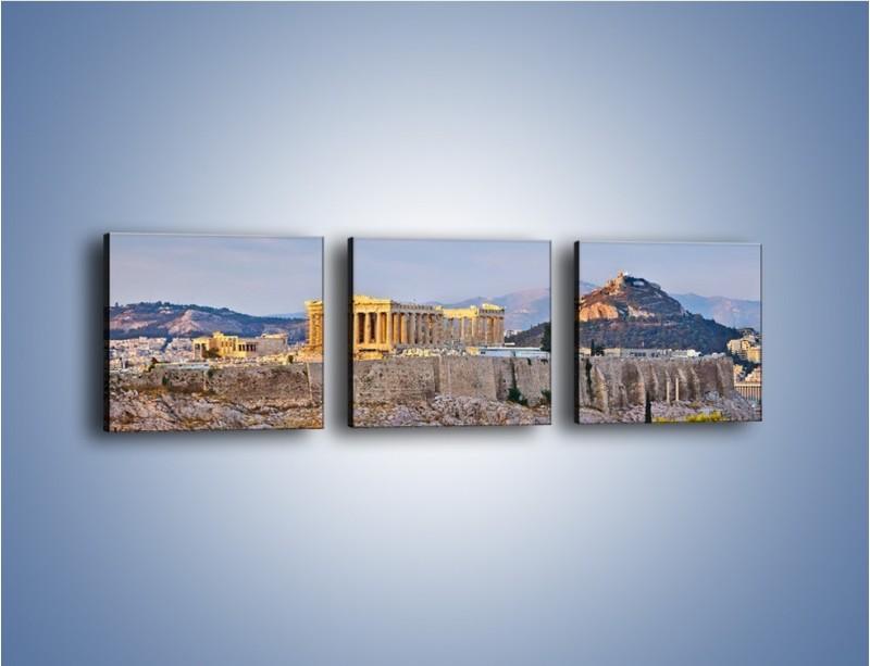 Obraz na płótnie – Ateńskie ruiny – trzyczęściowy AM162W1