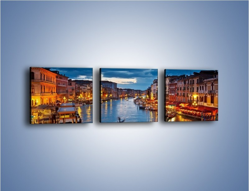 Obraz na płótnie – Wenecja romantyczną porą – trzyczęściowy AM163W1