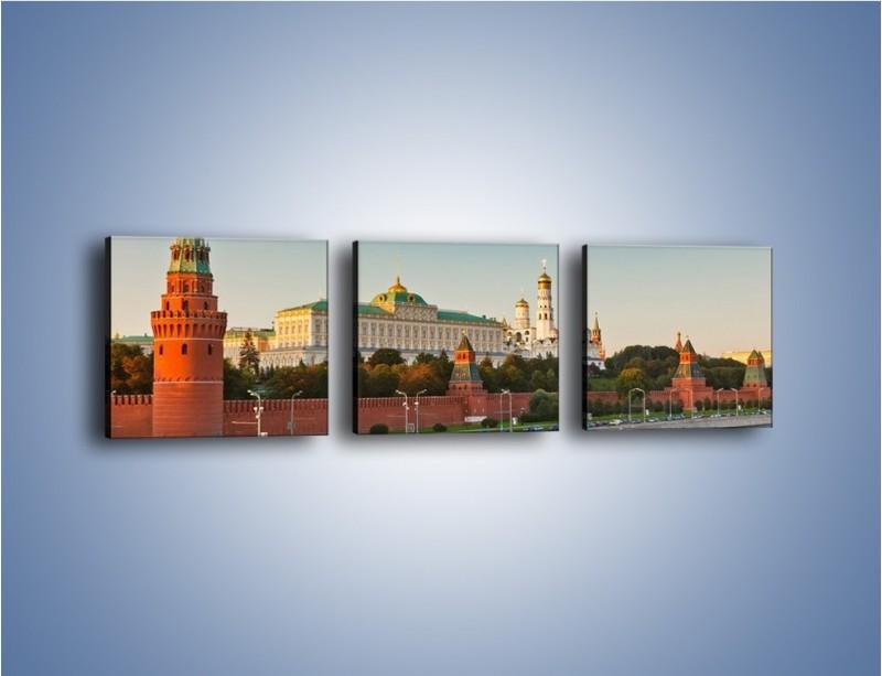 Obraz na płótnie – Kreml w środku lata – trzyczęściowy AM164W1