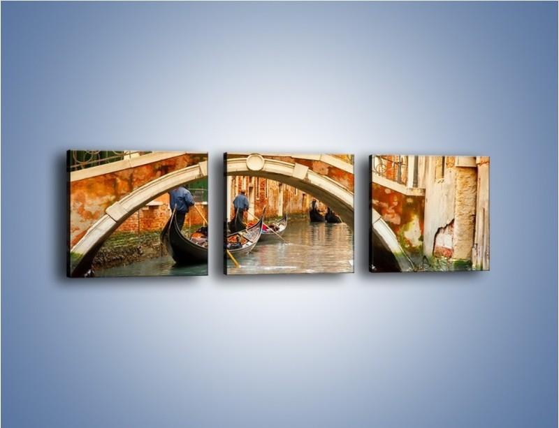 Obraz na płótnie – Weneckie gondole – trzyczęściowy AM172W1