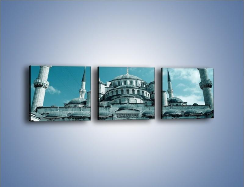 Obraz na płótnie – Taj Mahal – trzyczęściowy AM175W1