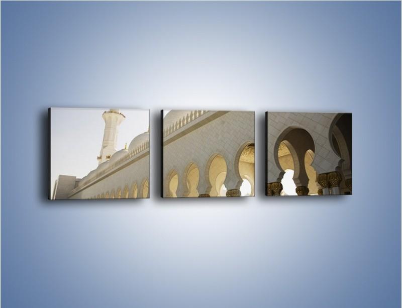 Obraz na płótnie – Bliskowschodnia architektura – trzyczęściowy AM177W1
