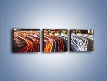 Obraz na płótnie – Autostradowa bramka w ruchu świateł – trzyczęściowy AM236W1