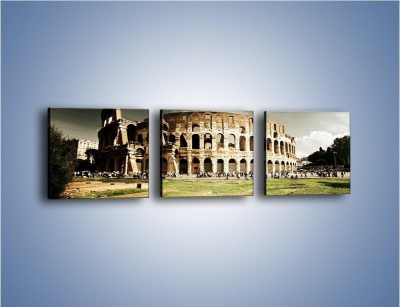 Obraz na płótnie – Koloseum przed burzą – trzyczęściowy AM271W1