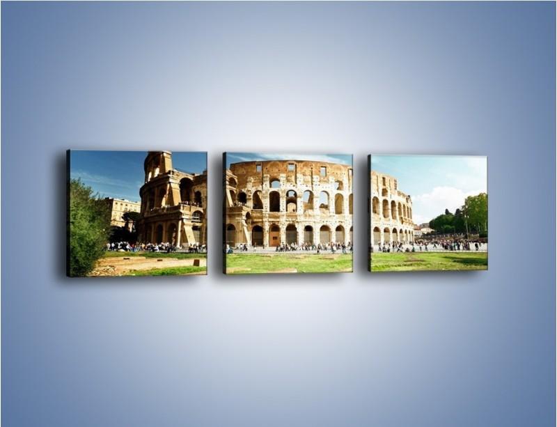 Obraz na płótnie – Koloseum w piękny dzień – trzyczęściowy AM273W1