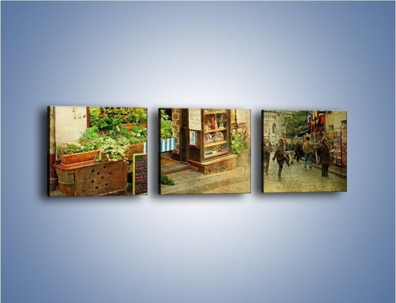 Obraz na płótnie – Paryska dzielnica Montmarte – trzyczęściowy AM323W1