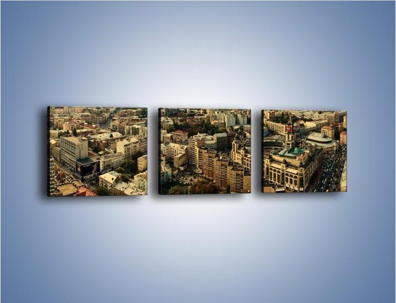 Obraz na płótnie – Panorama Kijowa – trzyczęściowy AM326W1