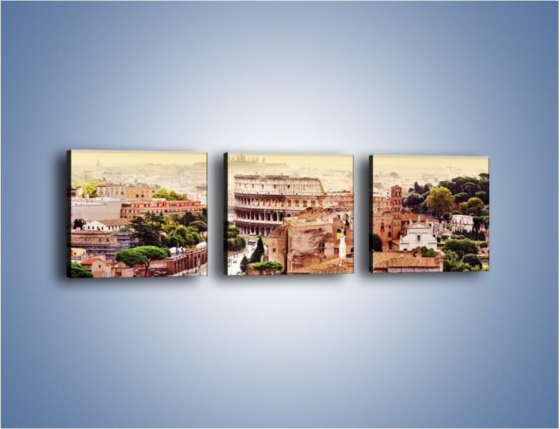 Obraz na płótnie – Panorama Rzymu – trzyczęściowy AM338W1