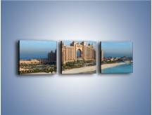 Obraz na płótnie – Atlantis Hotel w Dubaju – trzyczęściowy AM341W1