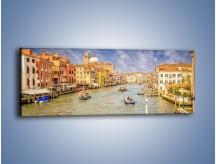 Obraz na płótnie – Canal Grande w Wenecji o poranku – jednoczęściowy panoramiczny AM617