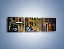 Obraz na płótnie – Cały urok Wenecji w jednym kadrze – trzyczęściowy AM371W1