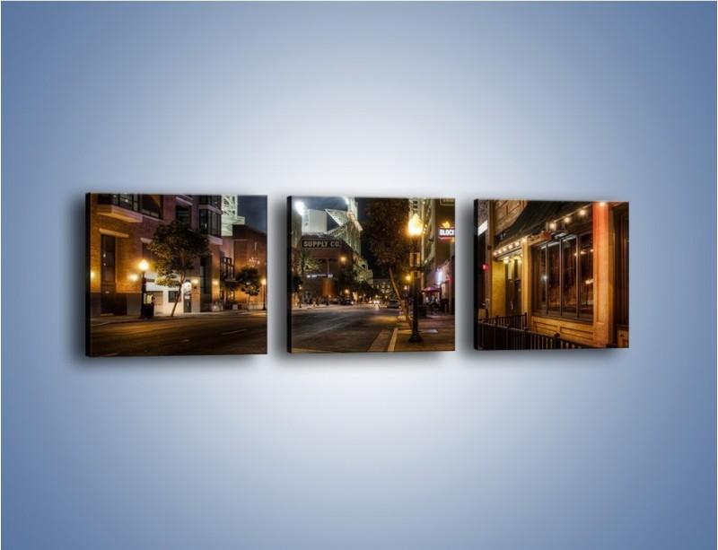 Obraz na płótnie – Ulica San Diego w Kaliforni – trzyczęściowy AM390W1