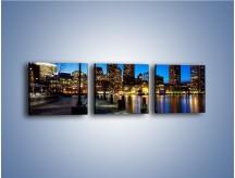 Obraz na płótnie – Boston wieczorową porą – trzyczęściowy AM393W1