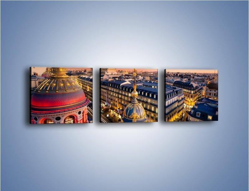 Obraz na płótnie – Paryska architektura – trzyczęściowy AM402W1