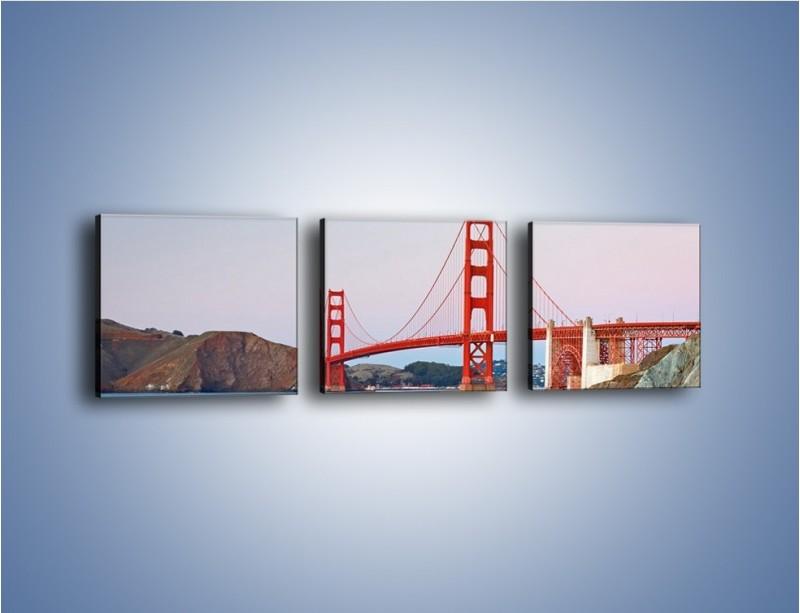Obraz na płótnie – Most Golden Gate – trzyczęściowy AM406W1