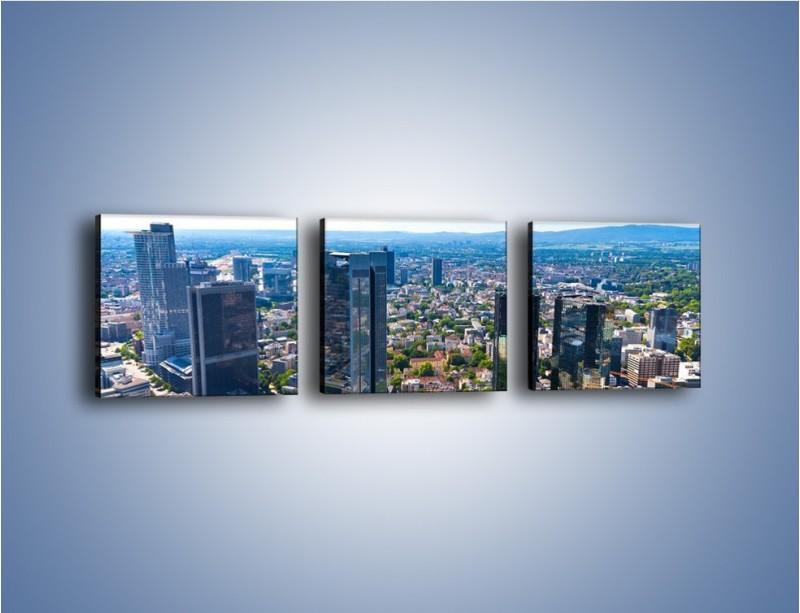 Obraz na płótnie – Panorama Frankfurtu – trzyczęściowy AM414W1