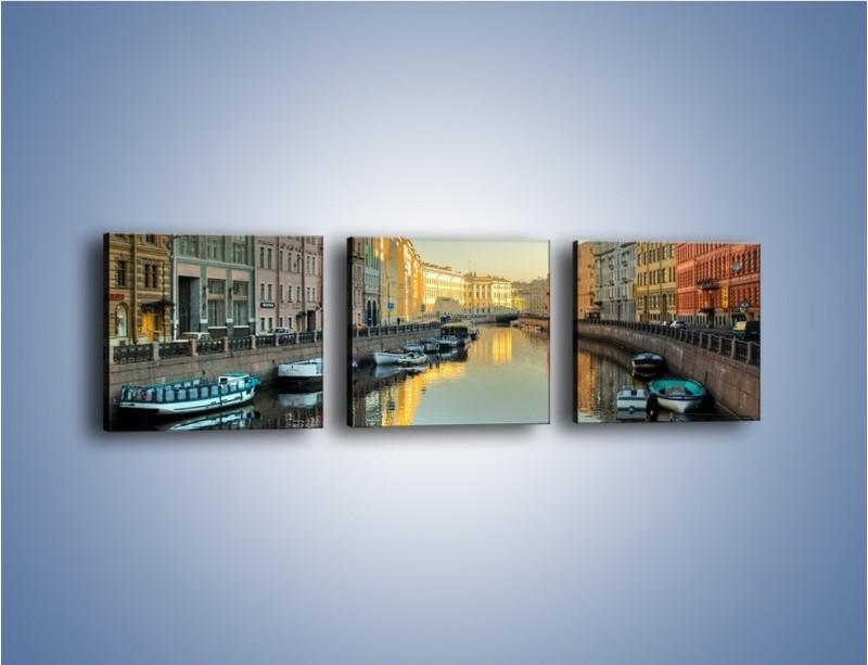 Obraz na płótnie – Kanał wodny w St. Petersburgu – trzyczęściowy AM422W1