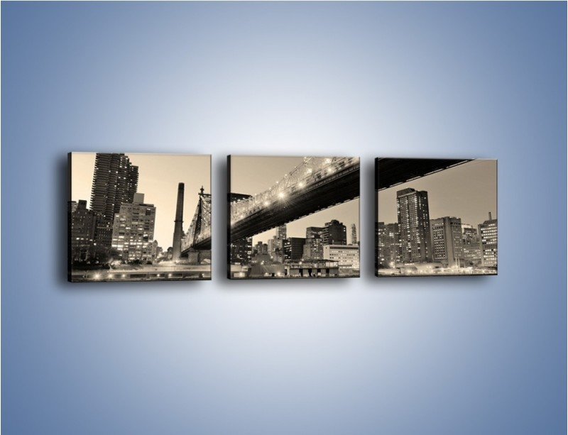 Obraz na płótnie – Most Qeensboro w Nowym Yorku – trzyczęściowy AM438W1