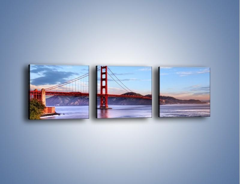 Obraz na płótnie – Most Golden Gate w San Francisco – trzyczęściowy AM444W1