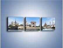 Obraz na płótnie – Atrakcje turystyczne Paryża – trzyczęściowy AM448W1