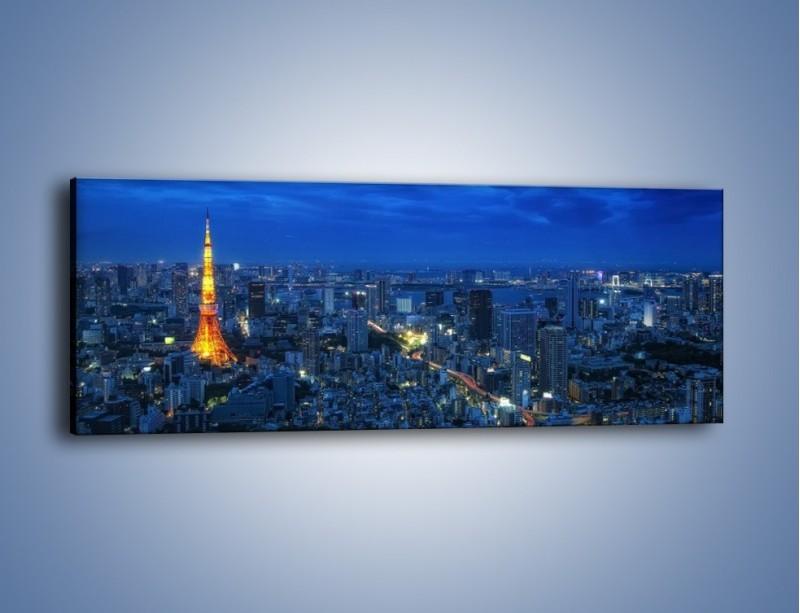 Obraz na płótnie – Tokyo Tower w Japonii – jednoczęściowy panoramiczny AM621