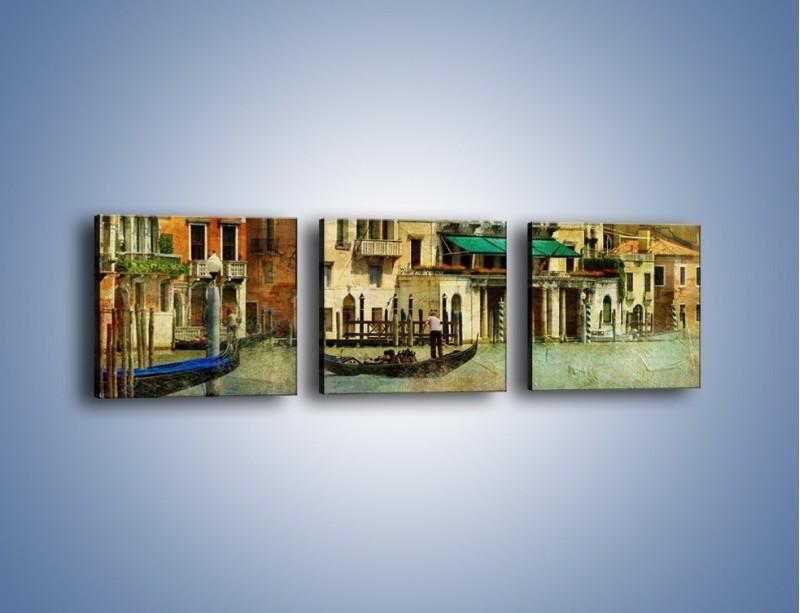 Obraz na płótnie – Weneckie domy w stylu vintage – trzyczęściowy AM459W1
