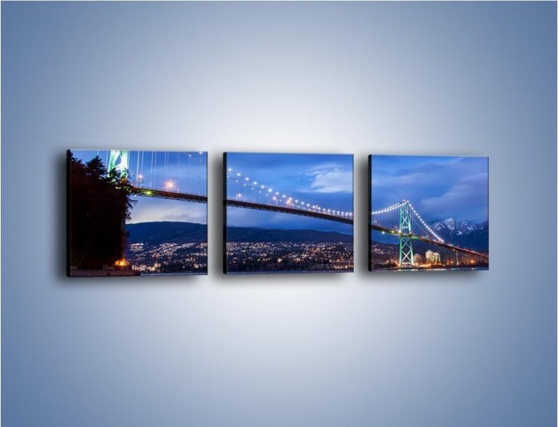 Obraz na płótnie – Most Lions Gate w Vancouver – trzyczęściowy AM471W1